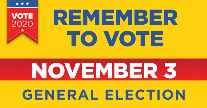 Remember to vote on Nov. 3