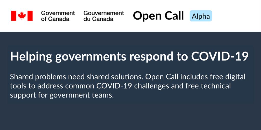 Screenshot of Open Call catalog homepage.