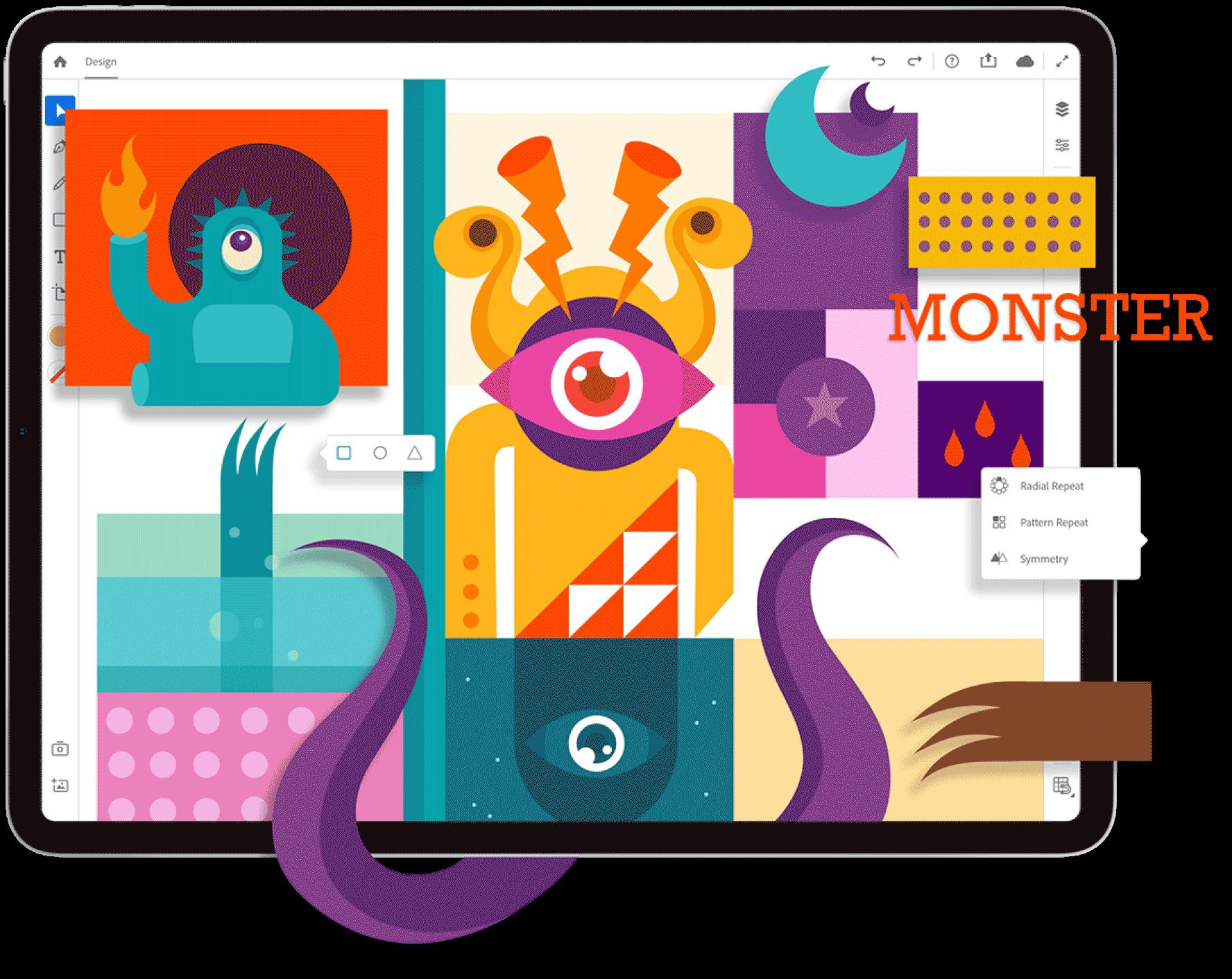 iPad ilustrado Adobe