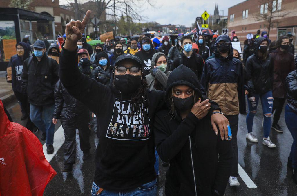 Protestors march for Black Lives Matter