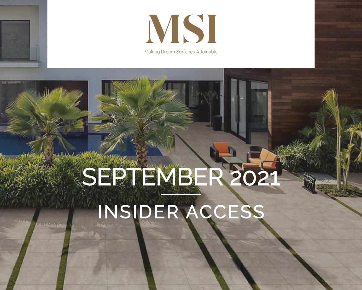 September 2021 Insider Access