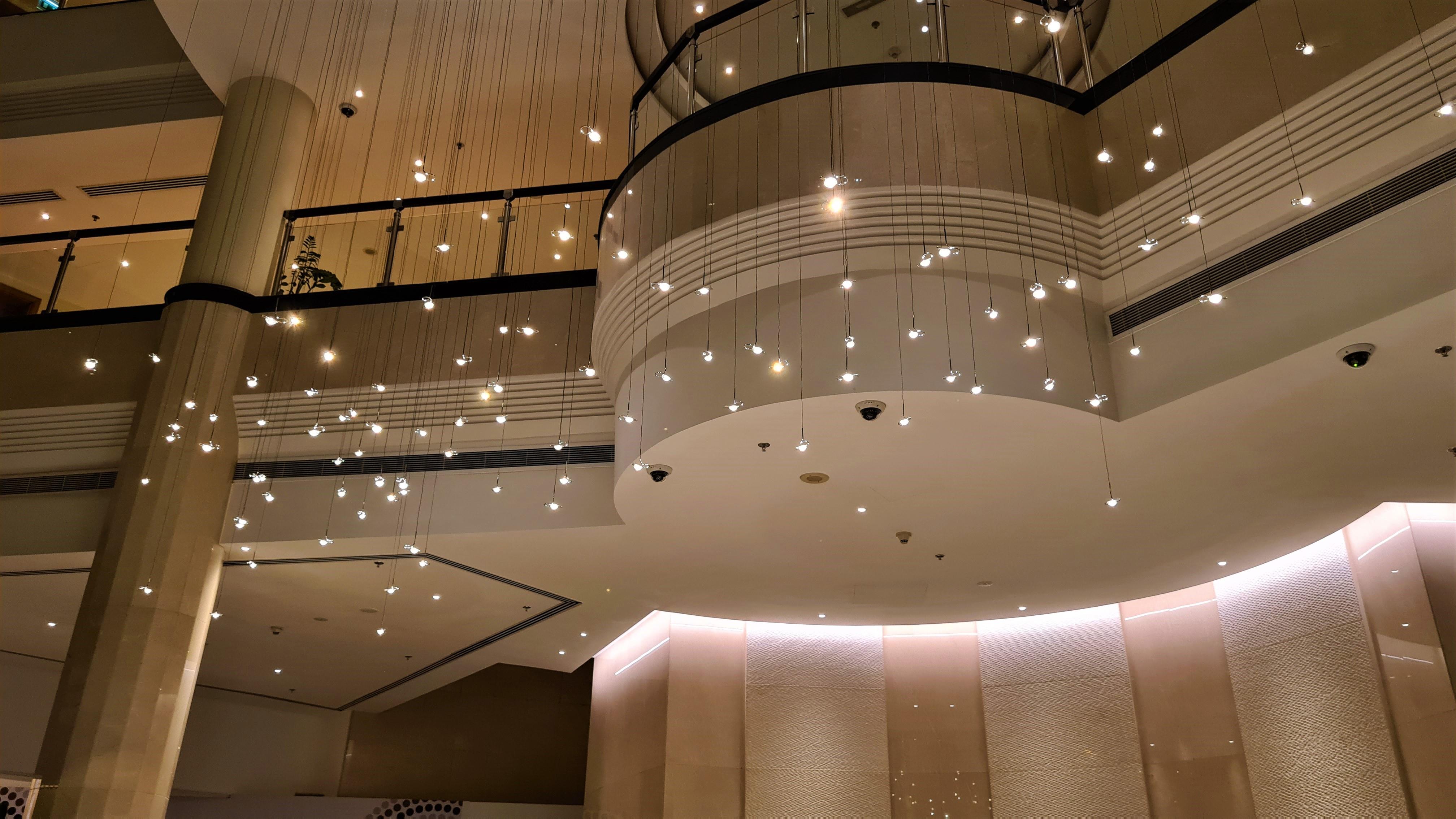 100 points Chandelier at Millennium Airport Hotel