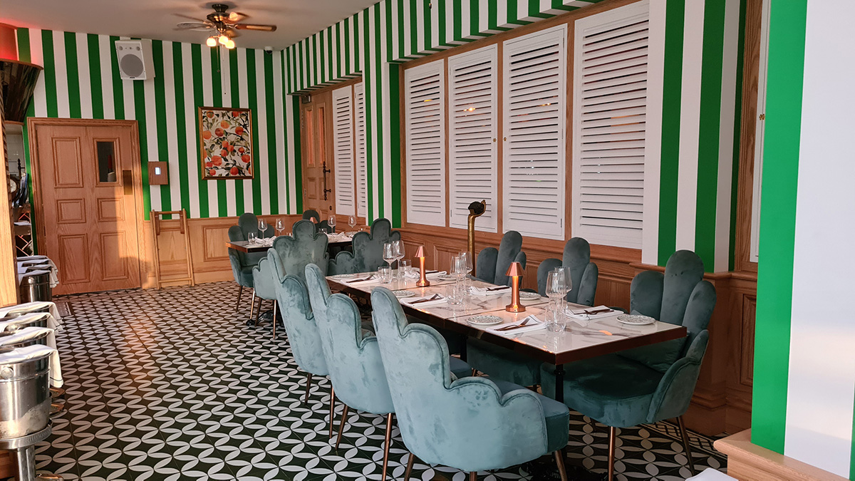 The Orangery restaurant at Philes Fogg where Lighting Control Solutions are provided by Creation
