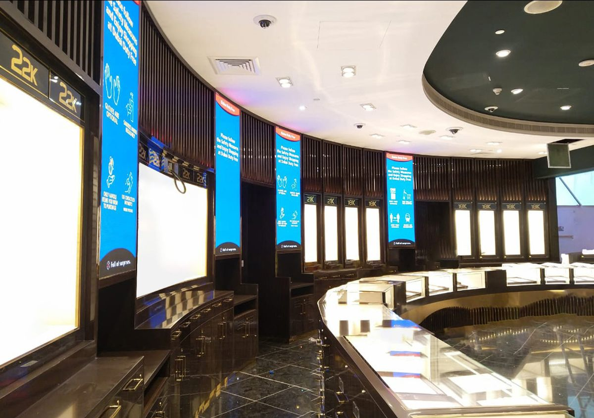 Interior of Dubai Duty Free project done by Creation Gulf