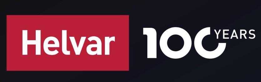 Helvar 100 Years Badge