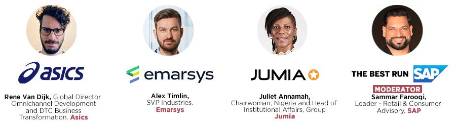 Speakers include Asics, emarsys, Jumia, SAP