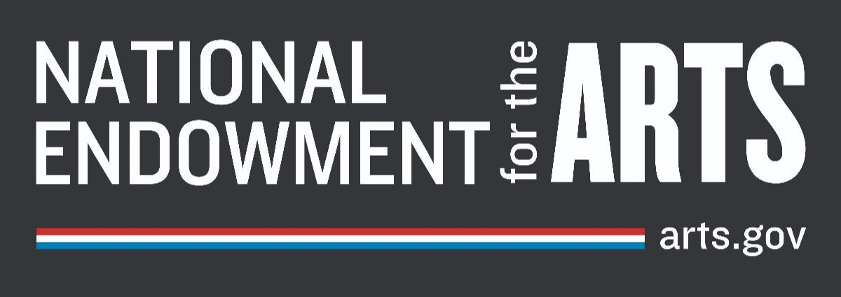 White text on gray background, National Endowment for the Arts logo