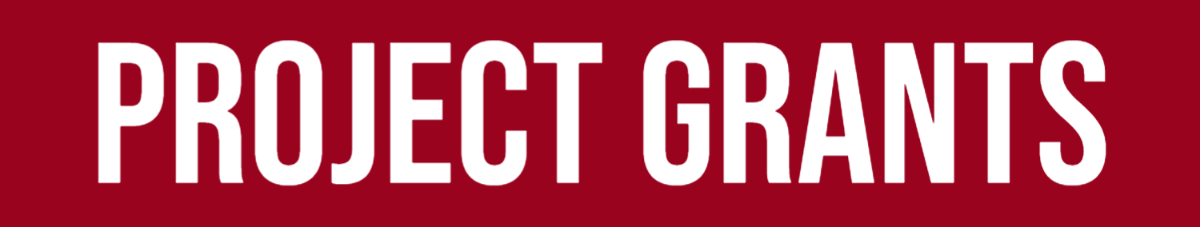 white text on red background, Project Grants