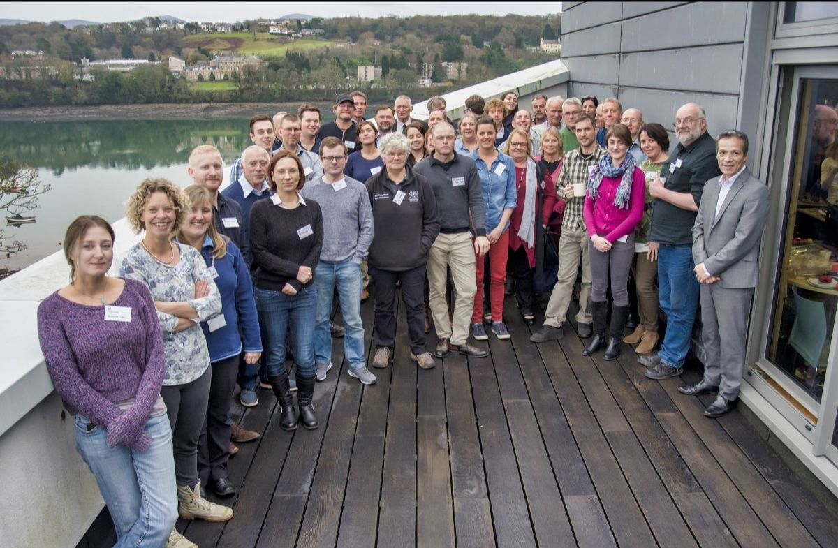 Shellfish Centre opening workshop group photograph of attendees