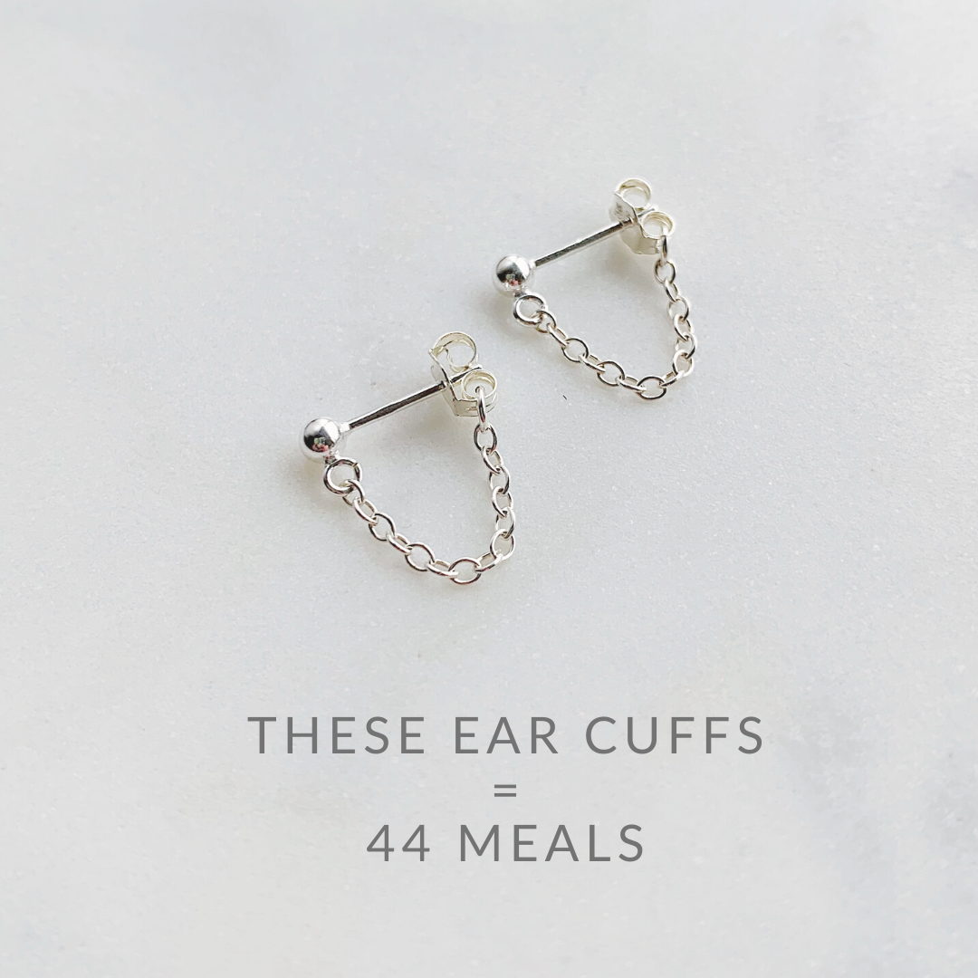 Aria Cuff Sterling Earrings