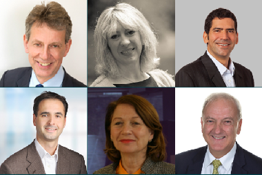 Picture montage with the faces of our six new non-executive directors