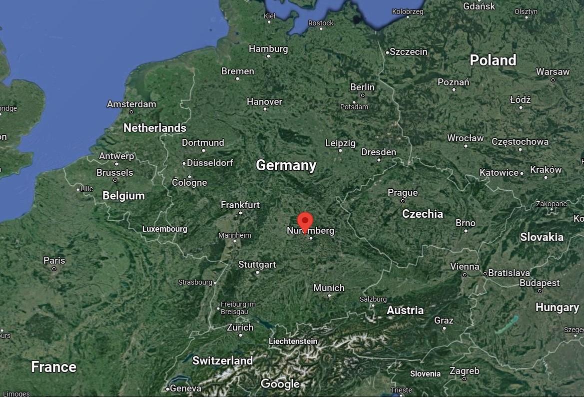 Herzogenaurach on the map(Photo: Google)