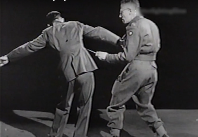 Fairbairn showing stabbing techniques (Photo: YouTube)