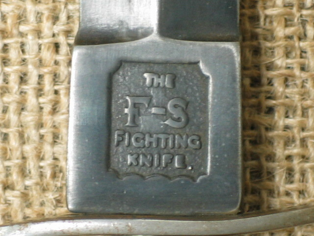 """The """"F-S fighting knife"""" inscription on the ricasso of a first pattern knife (Photo: www.cdomuseum.be)"""