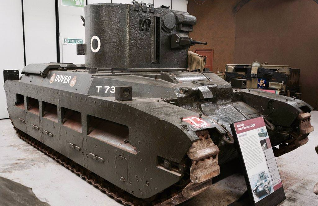 A Canal Defense Light tank based on a Matilda II(Photo: tanks-encyclopedia.com, Mark Nash)