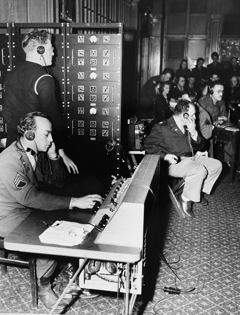 The switchboard through which the translations were routed(Photo: United States Holocaust Memorial Museum)