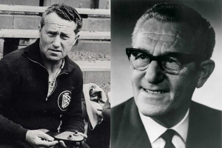 Late photos of Adolf and Rudolf Dassler(Photo: www.vous.hu)
