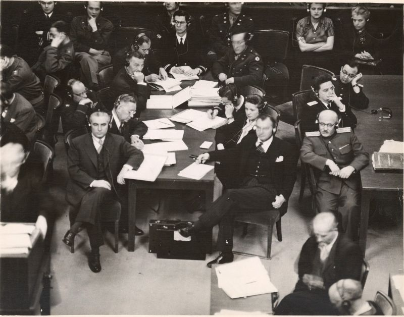 The American prosecution's table in the courtroom(Photo: University of Connecticut Libraries)