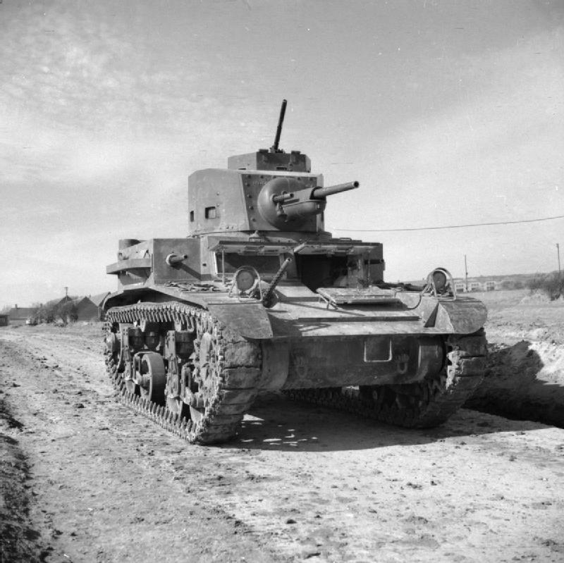 An American-made M2A4 light tank (in British service), armed with five M1919 machine guns as its secondary armament(Photo: U.K. War Office)