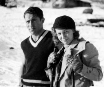 Adolf and Käthe during their honeymoon(Photo: www.adidassler.org)