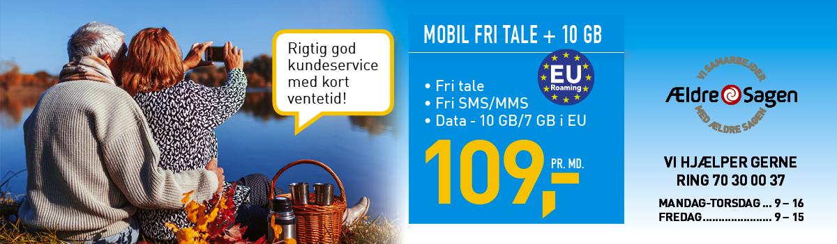 Fastnet.nu Mobil Fri Tale + 10GB