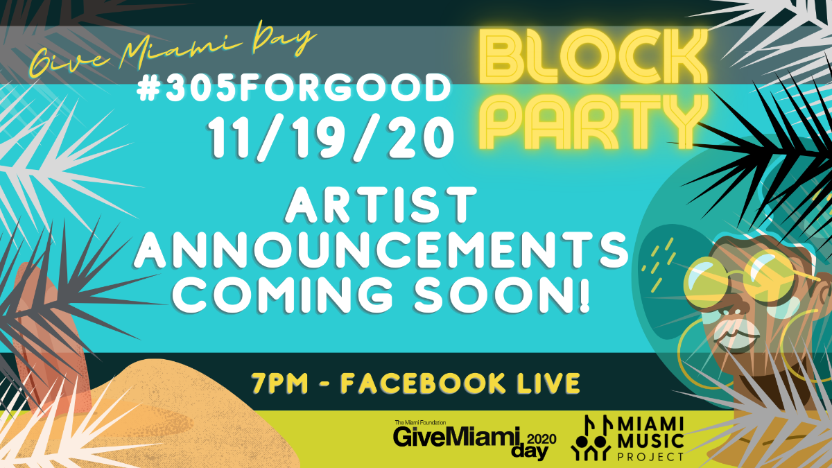 #305ForGood Block Party flyer. 11/19/2020 7PM Facebook live.
