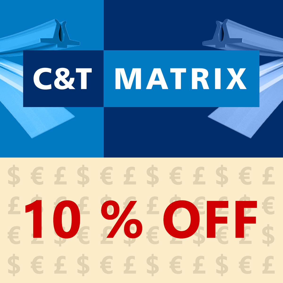10% OFF C&T Creasing Matrix - Steel, XTC, Corrugate, PINK