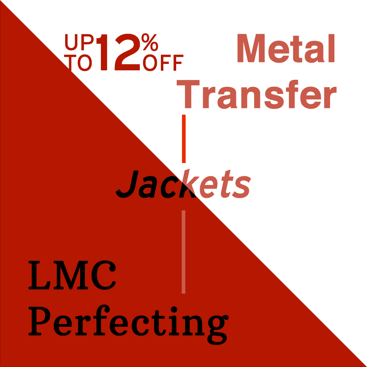 Up to 12% OFF Metal Transfer & LMC Perfecting Jackets