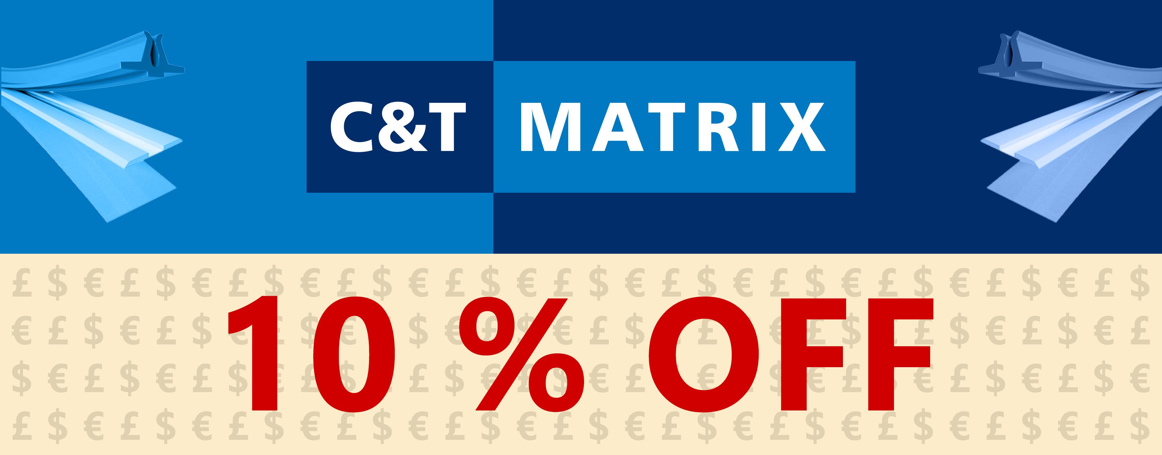 10% OFF C&T Creasing Matrix