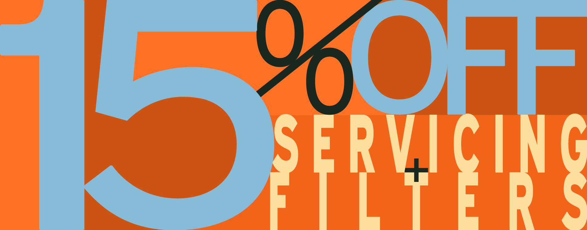 15% OFF Servicing & Filters