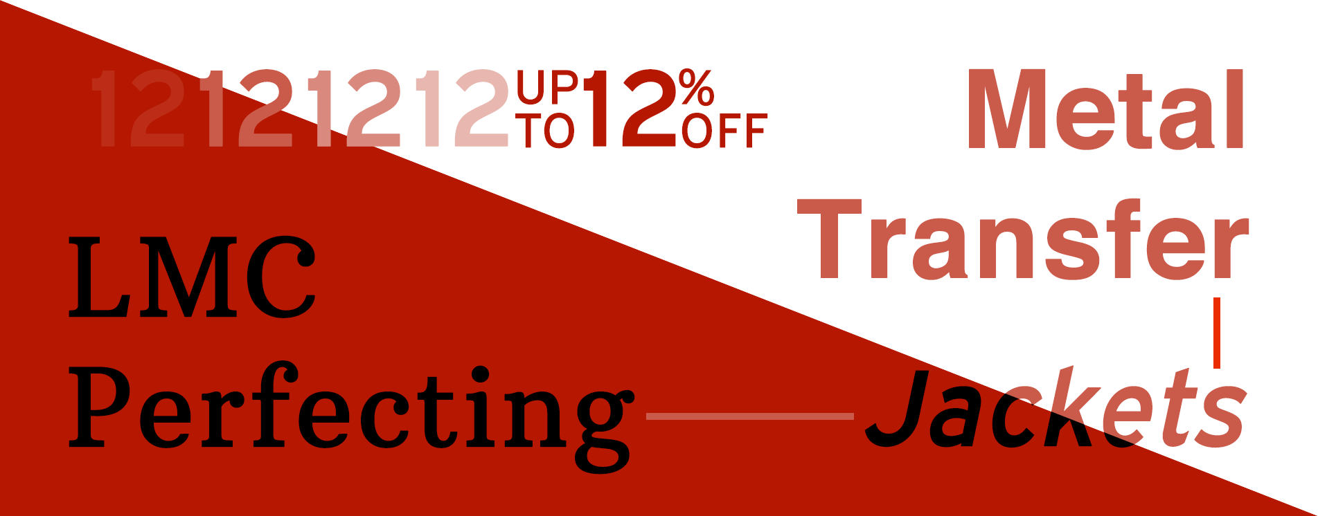 Up To 12% OFF LMC Perfecting & Metal Transfer Jackets