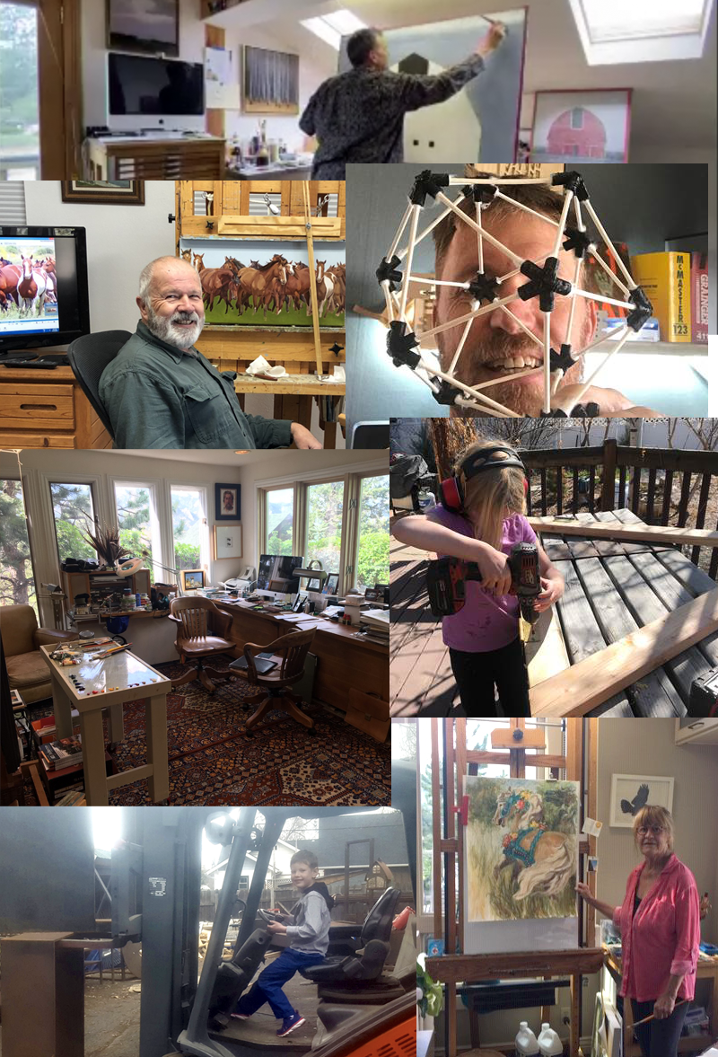 Check our artful news feed on the site or our social media posts for updates from the artists while they work from home. Get a glimpse inside the studios and see what the artists are doing during Stay-At-Home