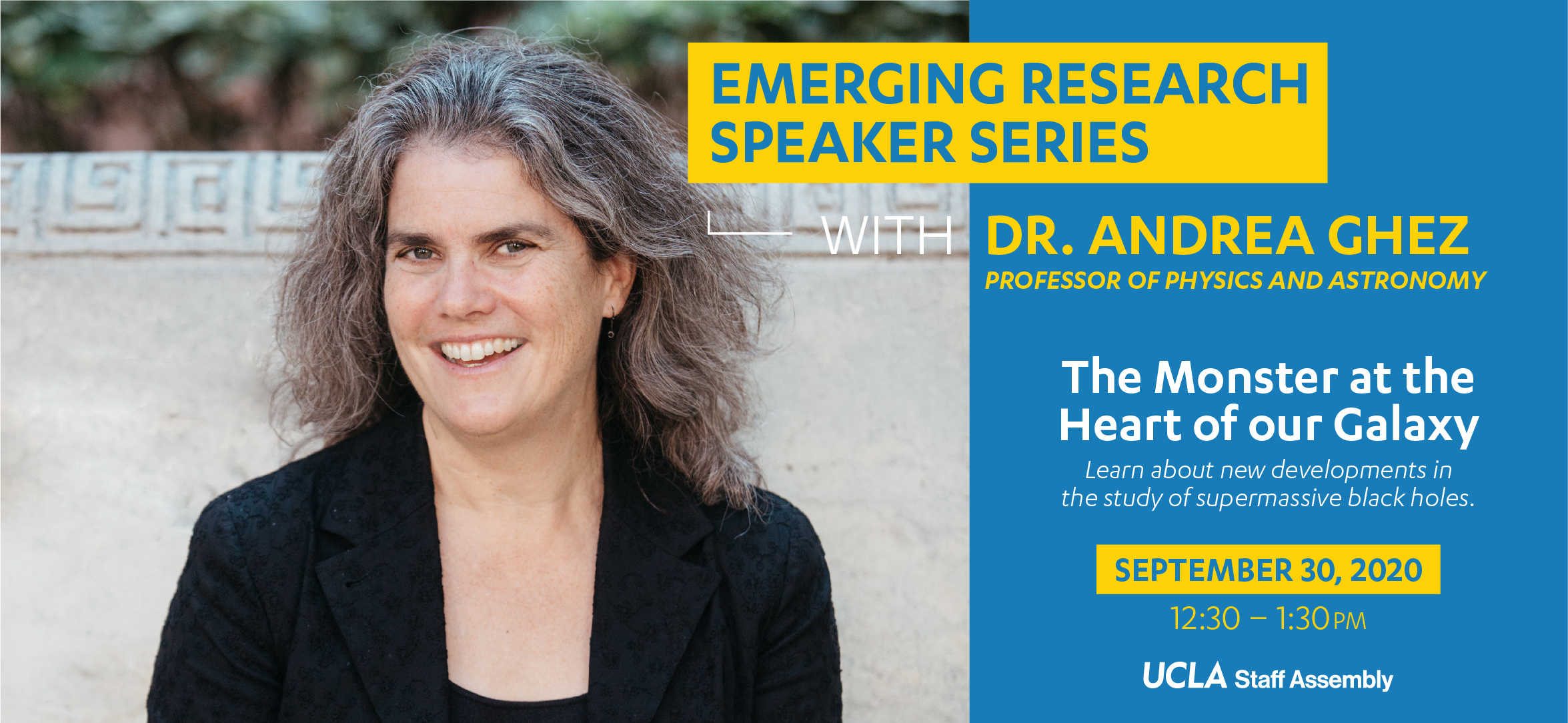 Emerging Research Speaker Series with Dr. Andrea Ghez