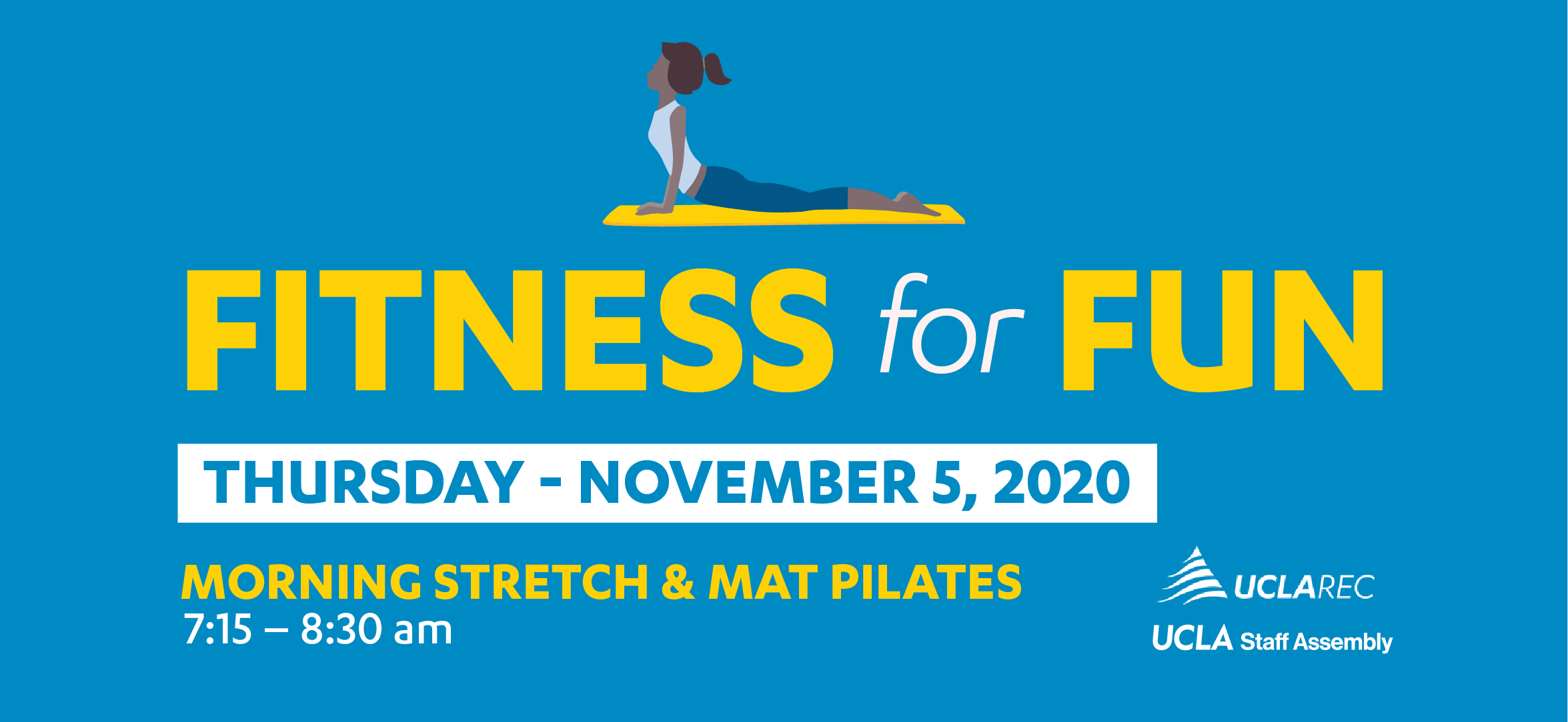 Fitness for Fun - Thursday, November 5, 2020 Morning Stretch and Mat Pilates