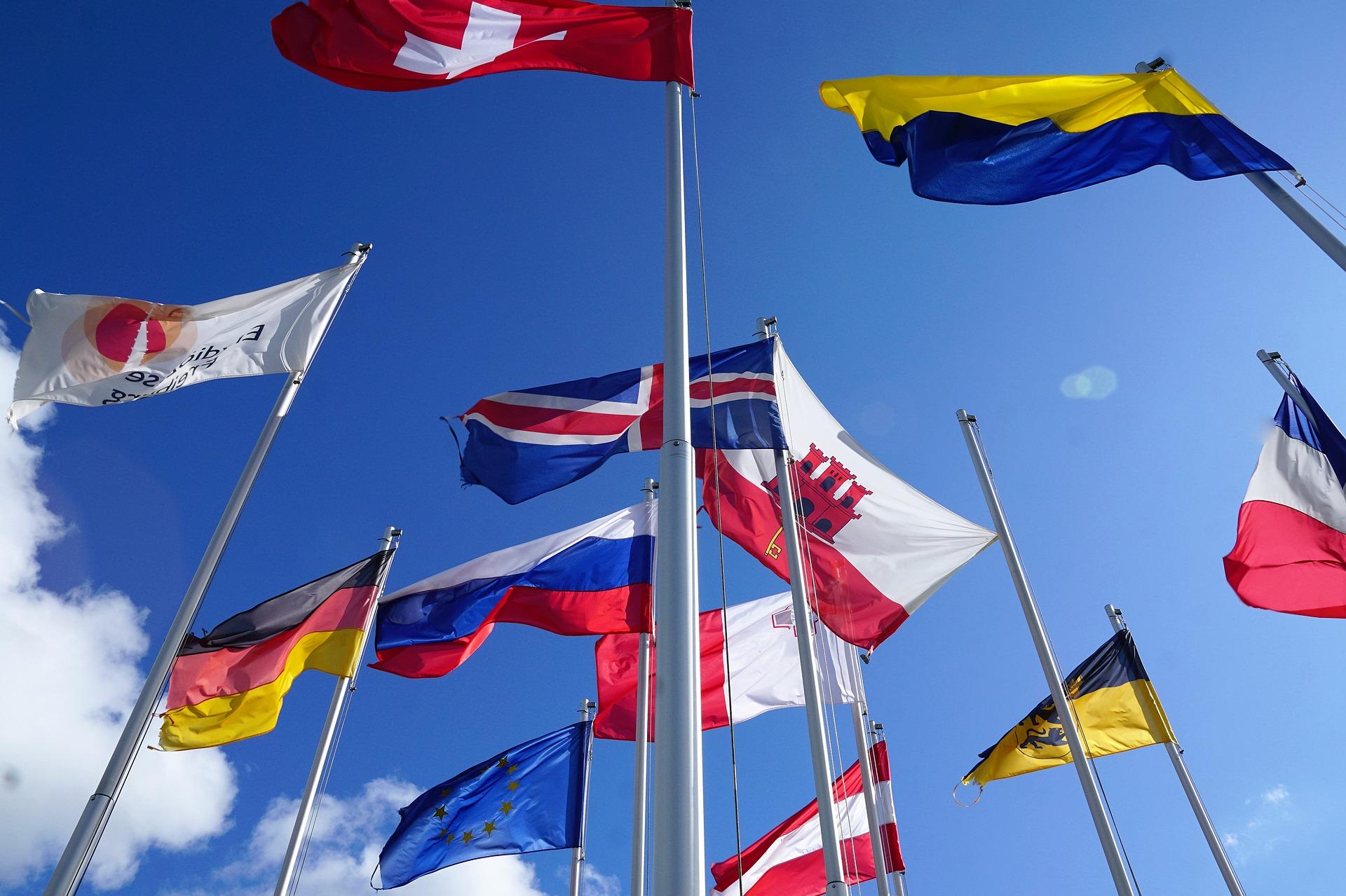 Flaggen verschiedener EU-Staaten