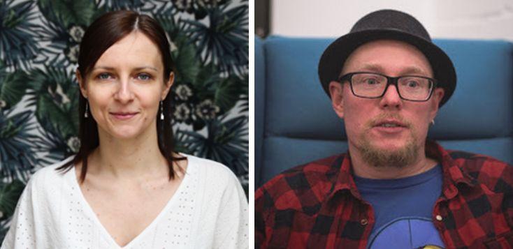 Paulina Ryters-Menapace, Jimdo Team Lead für Marketing Kampagnen, und Tim Peters, Jimdo Product-Designer