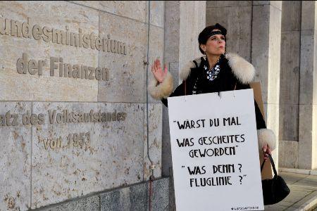 Protestaktion in Berlin