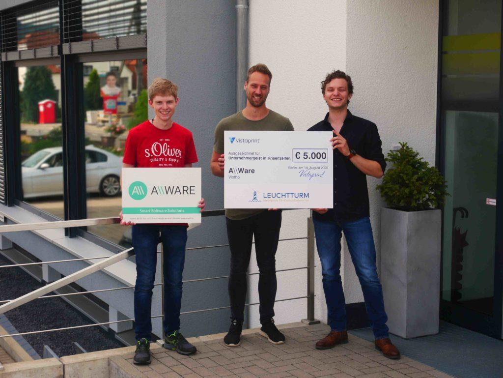 Foto der drei Gewinner