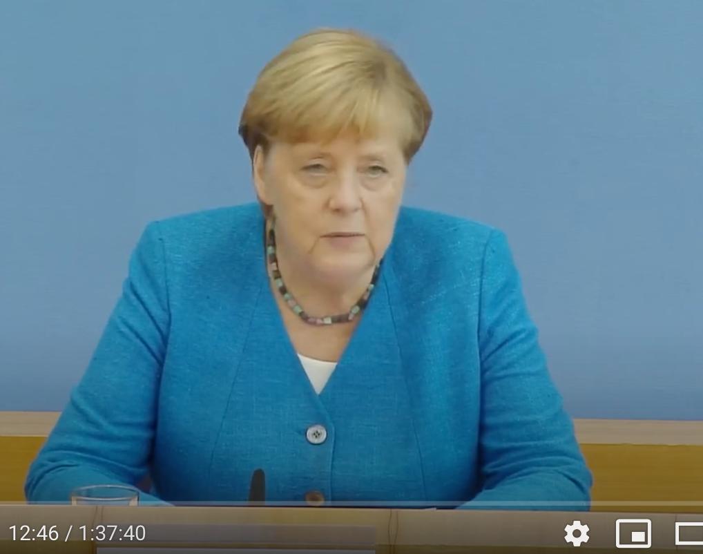 Bundeskanzlerin Merkel während der Sommerpressekonferenz