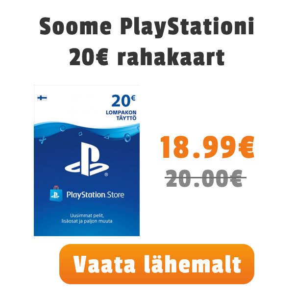 Soome PSN 20€ kaart