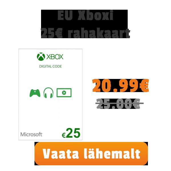 Xbox 25€ kaart