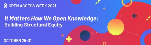 Open Access week image with logo and dates