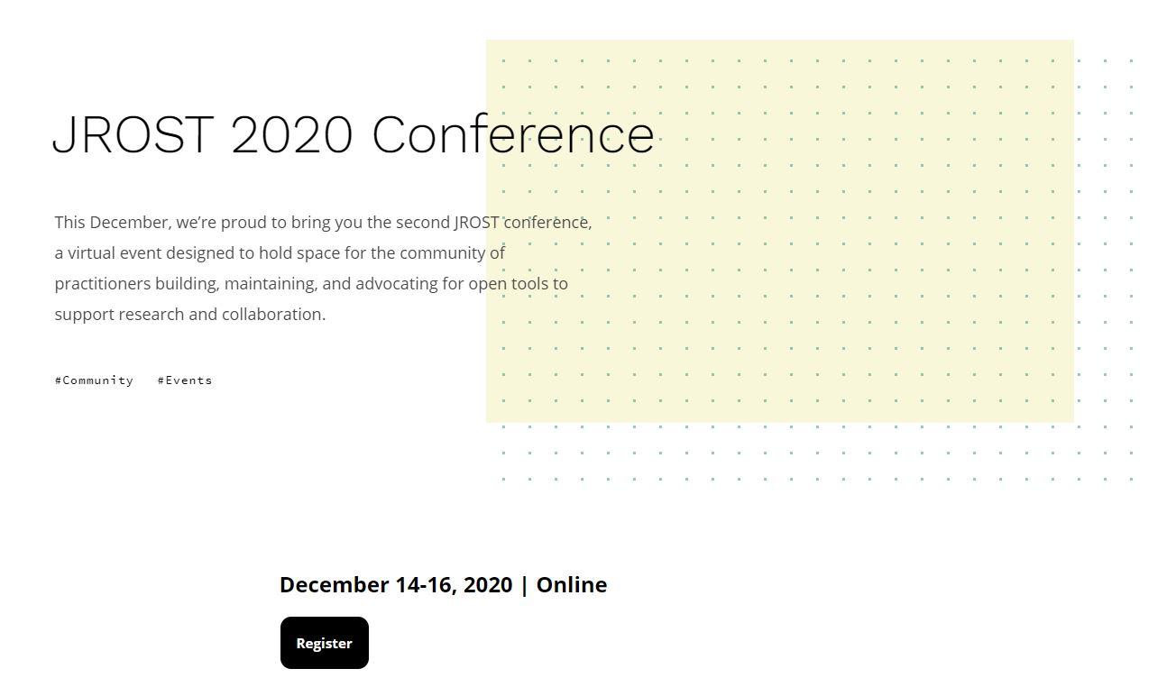 JROST 2020 Conference