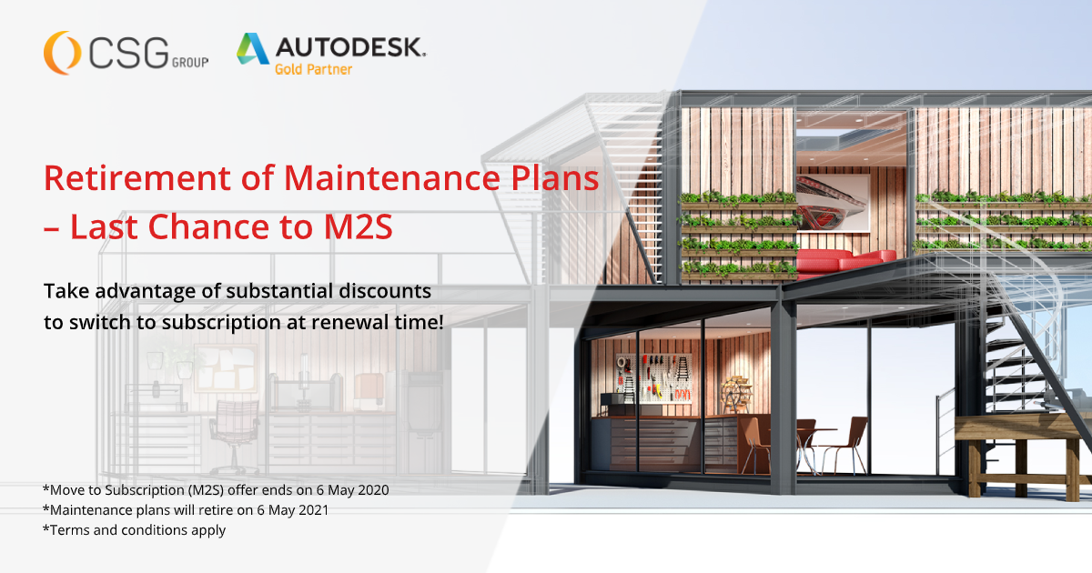 Autodesk Switch from Maintenance to Subscription