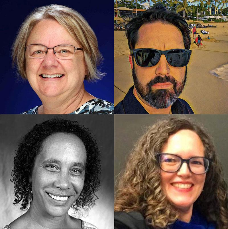 Terri Nelson, Bill Vanderburgh, Karen Rowan, Leslie Bryan