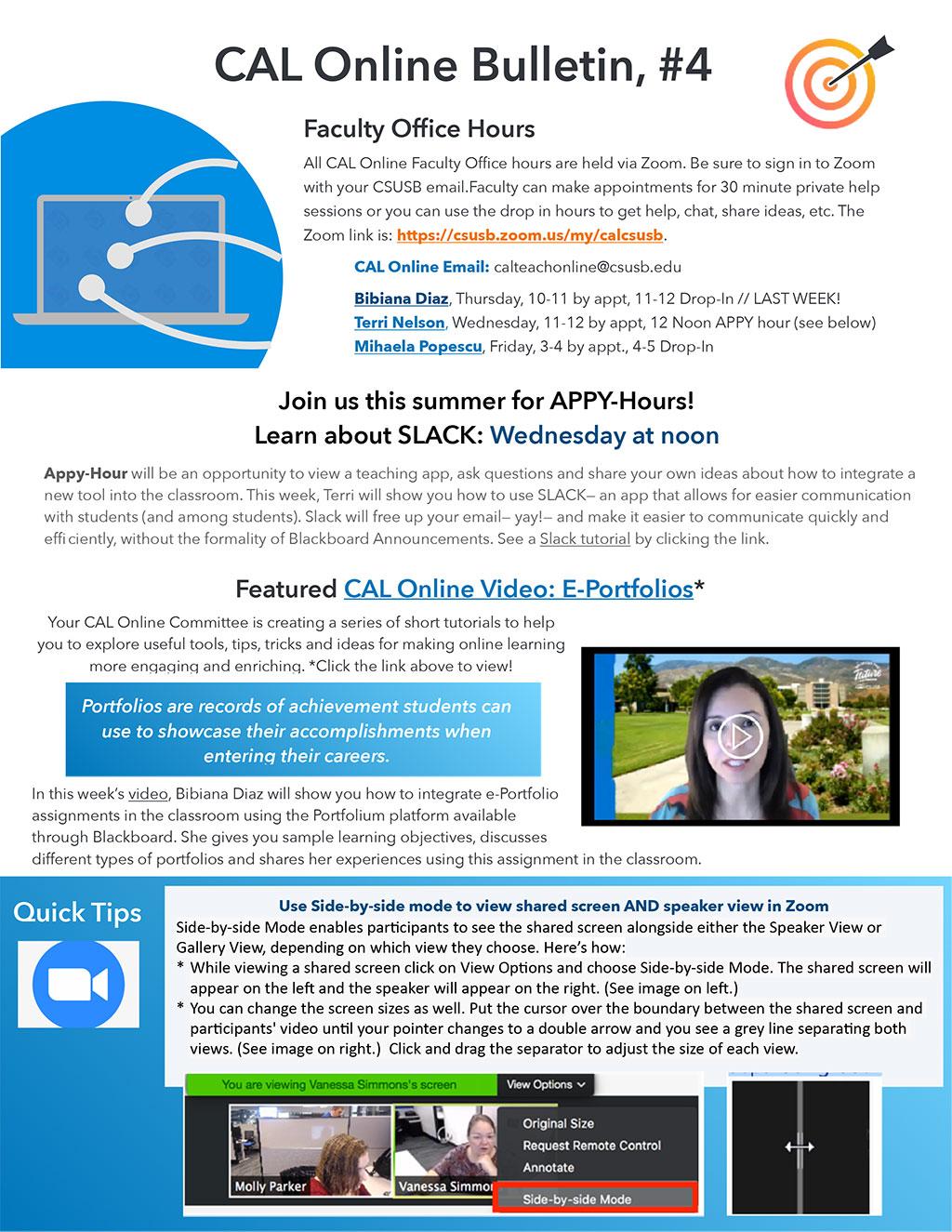 CAL Online Teaching Committee Bulletin