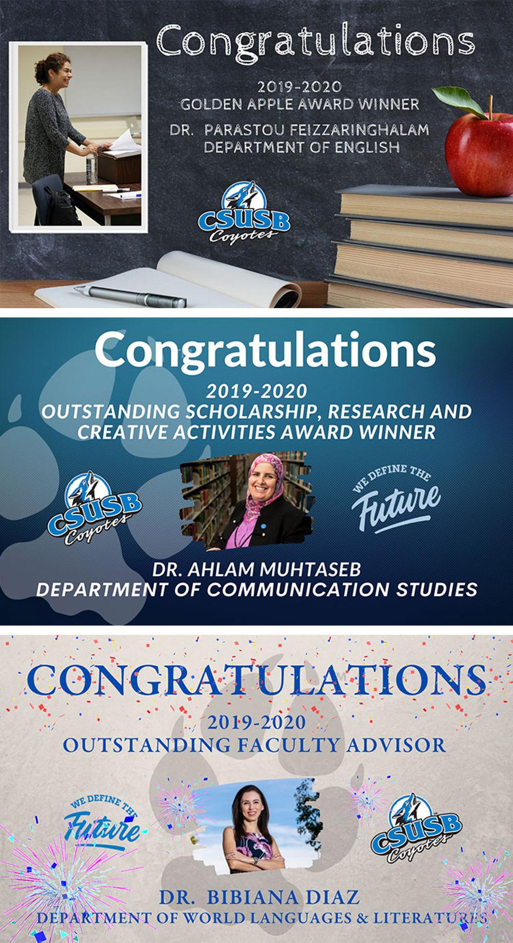 CSUSB faculty awards