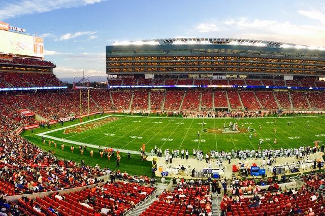 A football stadium full of people