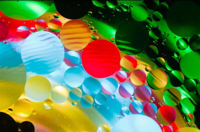 Abstract image of multicoloured bubbles