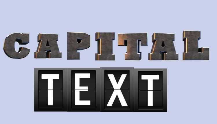 How to capitalize text